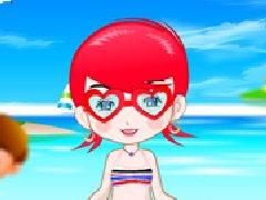 可爱泳装女生