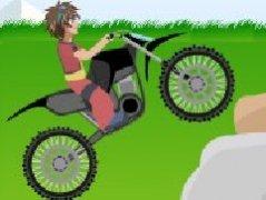 石头上的摩托车