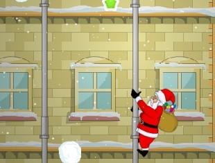 圣诞老人爬水管