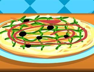 奶酪披萨装饰