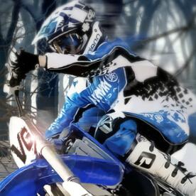 冬季越野摩托