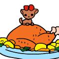 感恩节晚餐上色