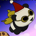 熊猫飞翔圣诞版