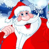 圣诞老人送礼物上色