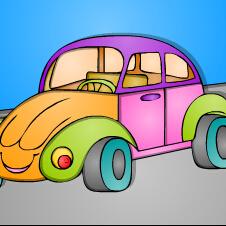 小汽车上色