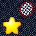 星星打羽毛球