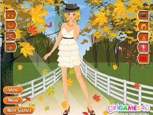 秋天小洋装
