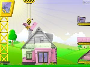 用吊车建房子