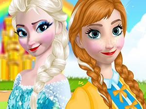 艾莎和安娜去舞会